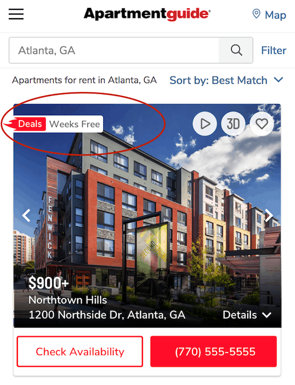 apartments with move-in deals
