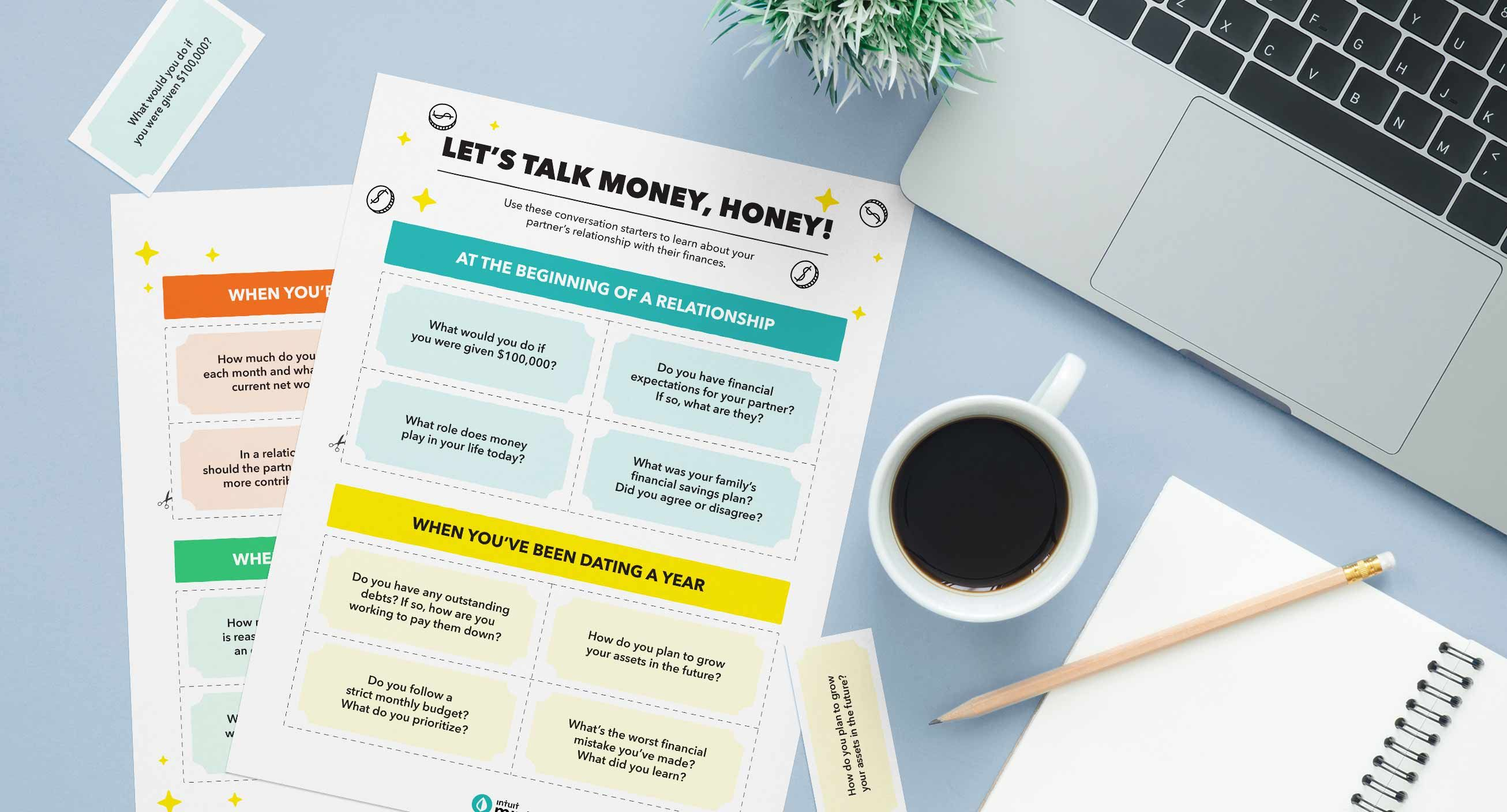 Let's Talk Money, Honey! Mockup