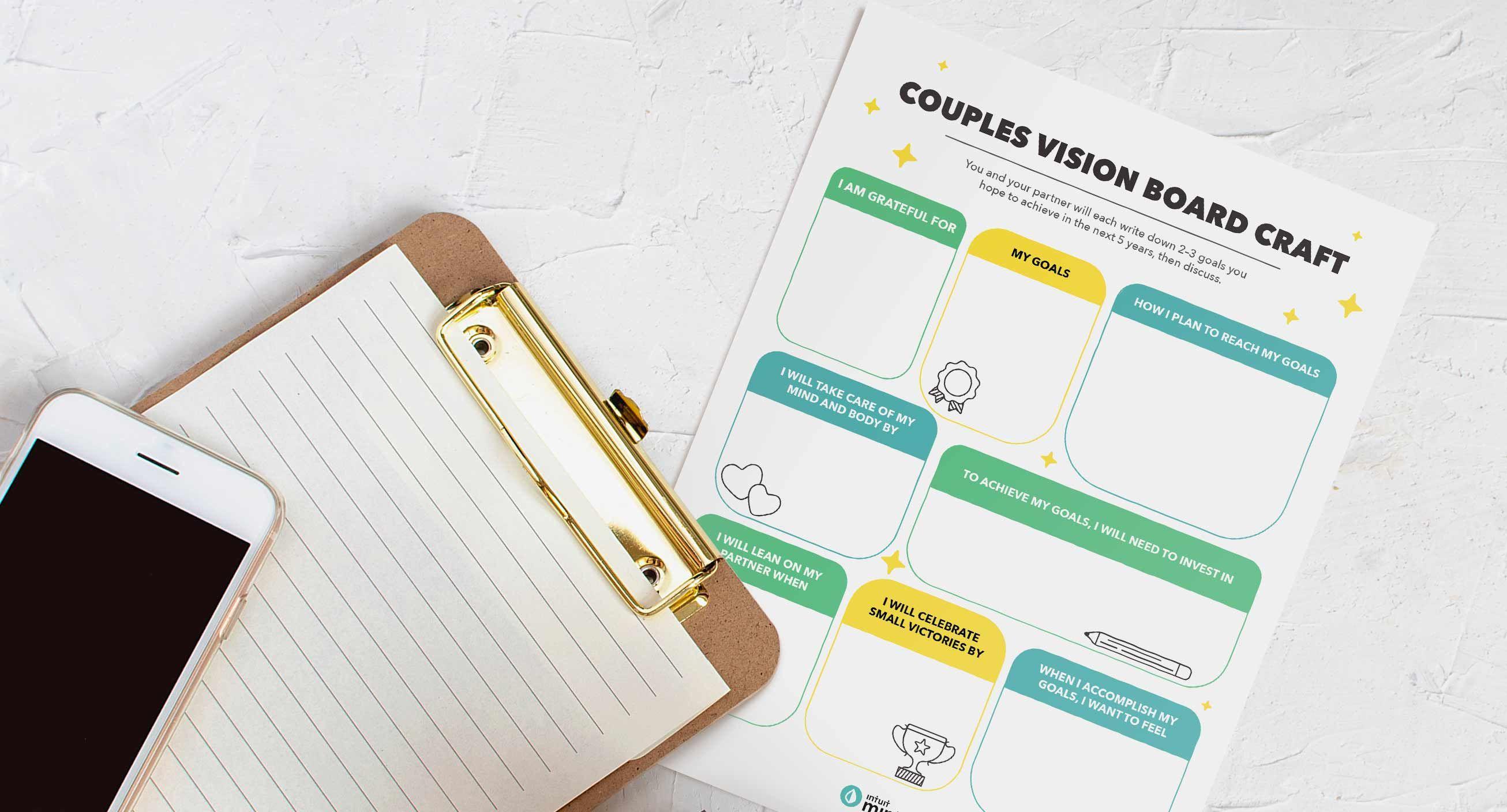 Couples Vision Board Mockup