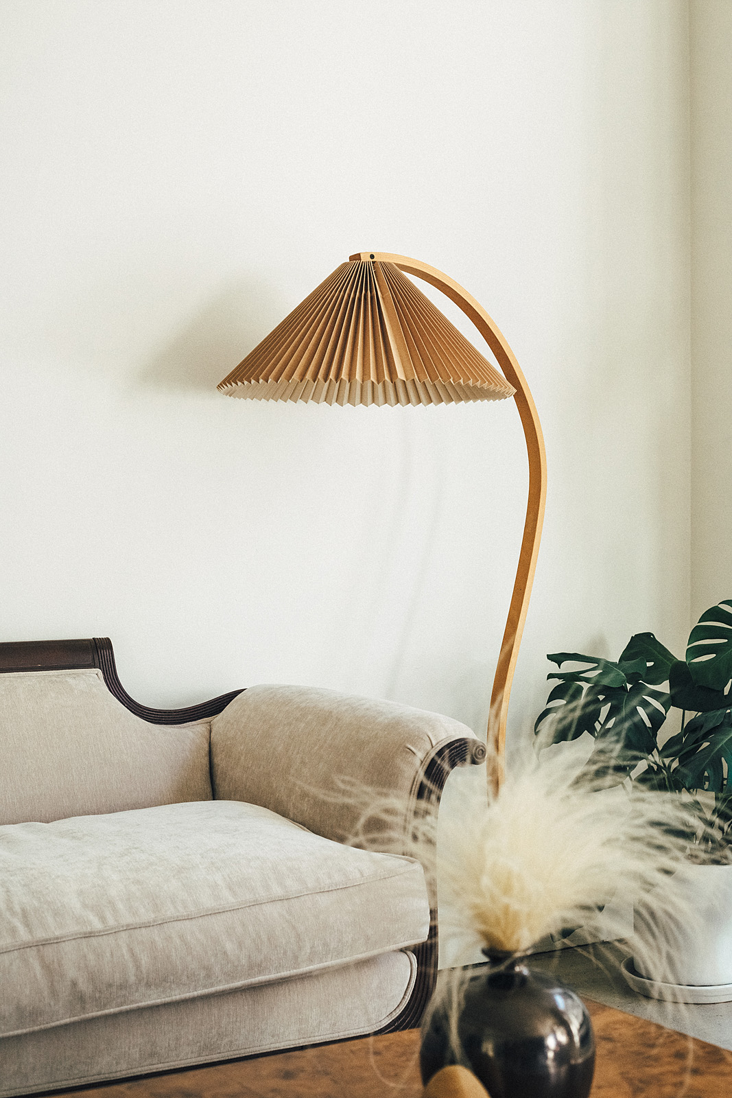 Pleated lampshade on Apartment 34