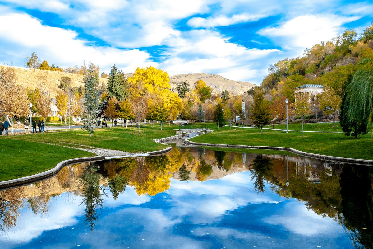 Bonneville Hills in Salt Lake City.