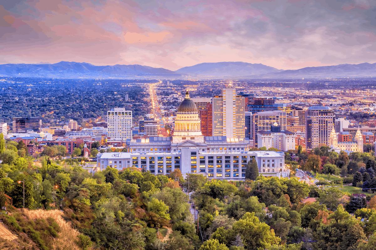 Capitol Hill in Salt Lake City.